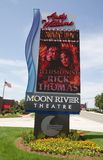 Sign at the Andy Williams Moon River Theatre Royalty Free Stock Photo