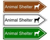 Sign animal shelter Royalty Free Stock Photo