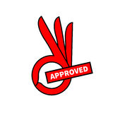Sign of approval Royalty Free Stock Images