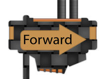 Sign - arrow - Forward Stock Images