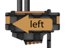 Sign - arrow - left Stock Photos