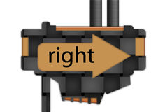 Sign - arrow - right Royalty Free Stock Photography