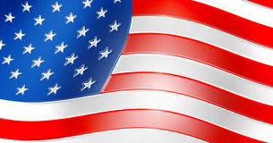 Sign as a flag of the USA Royalty Free Stock Photography