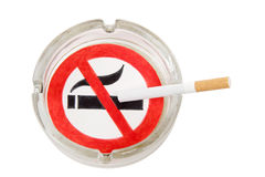 Sign of ashtray Stock Photography