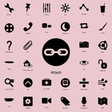 sign of attach in round icon. Detailed set of minimalistic icons. Premium graphic design. One of the collection icons for website vector illustration