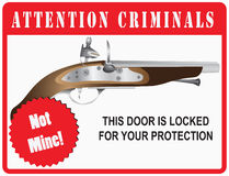 Sign Attention Criminals Stock Images