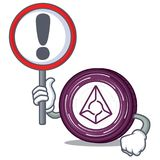 With sign Augur coin character cartoon. Vector illustration Royalty Free Stock Images