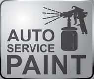Sign auto service, car fix AUTO paint service. Stock Photo