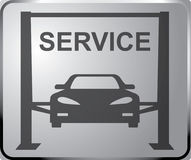 Sign auto service vector art. Banner design vector. Jack lift hydraulic. Stock Photography