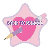 Sign back to school. With pencil Royalty Free Stock Images