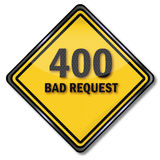 Sign 400 bad request. Sign computer 400 bad request Royalty Free Stock Photos