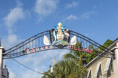 Sign Bahama village in Key West Stock Photos