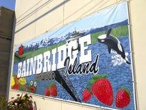 Sign on Bainbridge island part of the city of Seattle USA