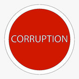 Sign ban corruption. Raster Stock Photos