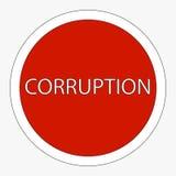 Sign ban corruption. Raster Stock Photos