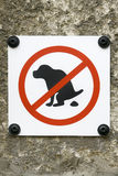 Sign Ban for Dogs to Poop Royalty Free Stock Photography