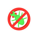 Sign of ban insects icon, cartoon style Royalty Free Stock Photography