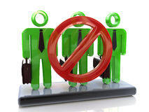 Sign ban and professional people. In registration information related to the ban and business Royalty Free Stock Image