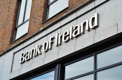 Sign of Bank of Ireland Royalty Free Stock Photography