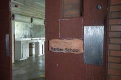 Barber school in abandoned prison Stock Image