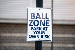 Sign at the baseball stadium royalty free stock image