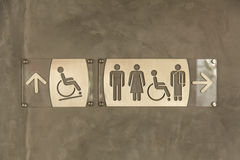Sign for bathrooms Stock Photography
