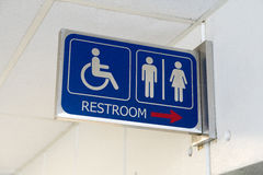 Sign bathrooms for men, women and the disabled Royalty Free Stock Photography