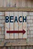 Sign for the Beach Stock Photos