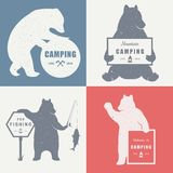 Sign Bear Camping Stock Image