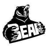 Sign of bear. Sign of bear on a white background Stock Photos