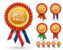 Sign best price, product, saller and choice award Royalty Free Stock Image