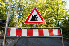 Sign beware of dragons Stock Photography
