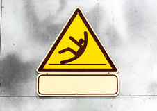 Sign  beware slippy Stock Image