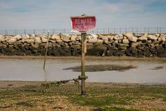 Sign: Beware soft mud royalty free stock photos