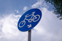The sign of the bicycle Royalty Free Stock Images