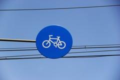 Sign of bicycle Stock Photos