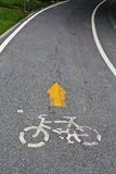 A sign of bicycle Stock Images