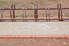 A sign of bicycle parking Royalty Free Stock Photography