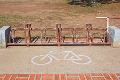 A sign of bicycle parking Stock Photos