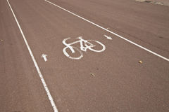 Sign of bicycle parking on street Royalty Free Stock Photography