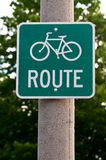 Sign with a bicycle path Royalty Free Stock Photos
