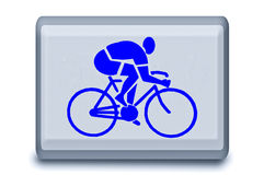 The Sign of bicycle race Royalty Free Stock Images