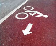 Sign for a bicycle Royalty Free Stock Photo