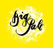 Sign Big Sale, icon for your web, label, icon, minimal dynamic design. Limited Offer Mega Sale banner. Sale poster. Hand drawn de stock illustration