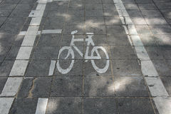 Sign of a bike or bicycle lane Royalty Free Stock Photography