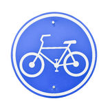Sign of a bike. Royalty Free Stock Image