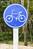 Sign of a bike. Royalty Free Stock Images