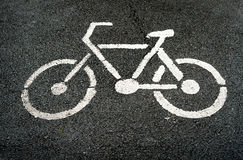 Sign of Bike lane Stock Photography