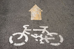 Sign of Bike lane Royalty Free Stock Photos