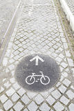 Sign bike path Royalty Free Stock Image